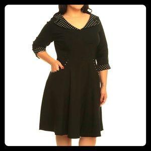 Women s Black And White Polka Dot Pinup Dress on Poshmark cee5d3ce5